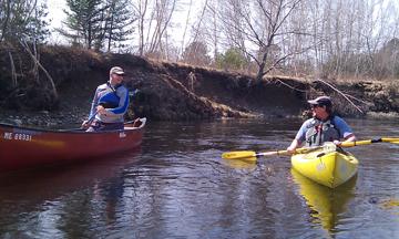 Scott and Jim enjoying some slow water.